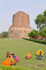Clearing weeds, Sarnath, where Buddha, after attaining enlightenment at Bodhgaya, preached his first sermon to his five companions 2,500 years ago, Varanasi