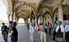 The Diwan-I-am (Hall of Public Audience), 1635, still covered in the white plaster, Agra Fort