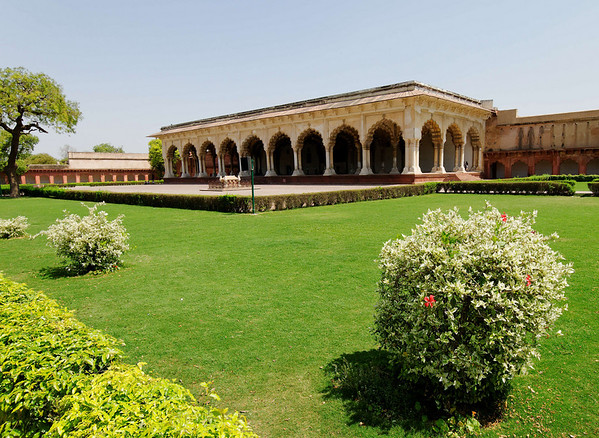 The Diwan-I-am (Hall of Public Audience), 1635, Agra Fort