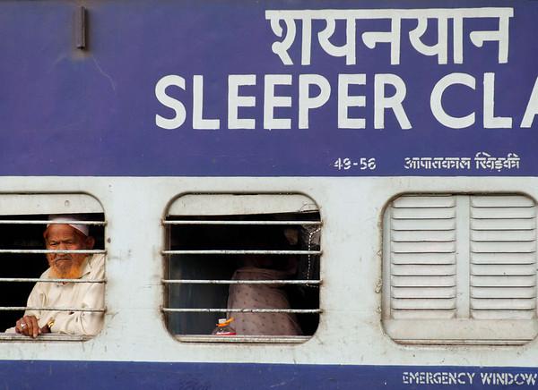 Riding the train, Agra Railway Station