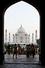 Taj Mahal through the gateway, Agra