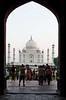 Taj Mahal through the gateway, Agra