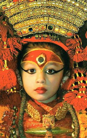 The Living Goddess Kumari, from bought photo