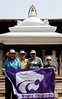 Suzanne, Richard, John, Sherry, and the flag, Patan Durbar Square, Lalitpur (Patan) Nepal