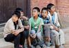 Kids on a stoop, Bhaktapur Nepal
