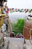 Lots of climbing in Kathmandu as opposed to flat India, Swayambhunath Temple (250 BC) and Buddhist complex, Kathmandu