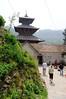 Entering Jal Binayak Temple (17th century), Kathmandu Nepal