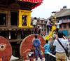 Getting the giant cart ready, Taumadhi Square, Bhaktapur Nepal