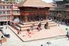 Ritual slaughter from the Maju Dega, Hanuman-dhoka Durbar Square, Kathmandu Nepal