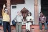 Richard, Henri, Sharon at the top, Maju Dega, Hanuman-dhoka Durbar Square, Kathmandu Nepal