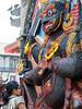 Praying to the deity, Hanuman-dhoka Durbar Square, Kathmandu Nepal