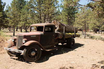 An old log truck.