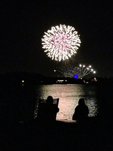View of fireworks from Polynesian Resort