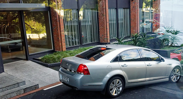 Yes, it's a Caprice but doesn't wear the Chevrolet name or logo - it's a Holden, built in Australia