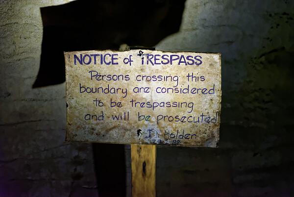1982 sign from the landowner, Mr. Holden