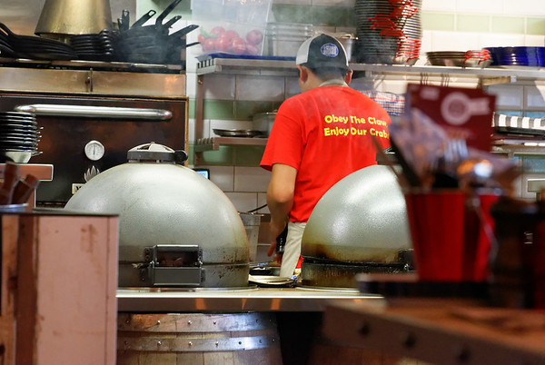 Busy cooks at the Crab Shack