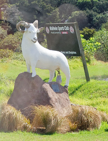 The male member of the Ram was stolen multiple times so it has been replaced with a weight