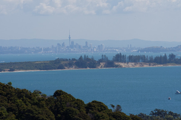 Distant Auckland from Waiheke Island