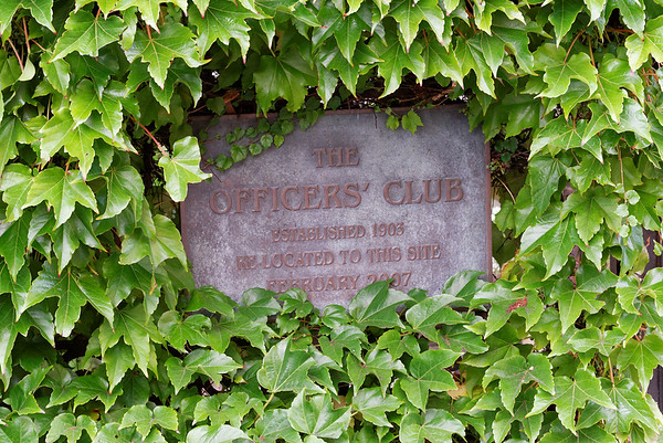 Ivy-covered Officers' Club across from our hotel