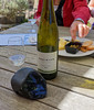 A piece of obsidean and a very good Pinot Gris
