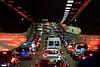 Sydney morning traffic in tunnel