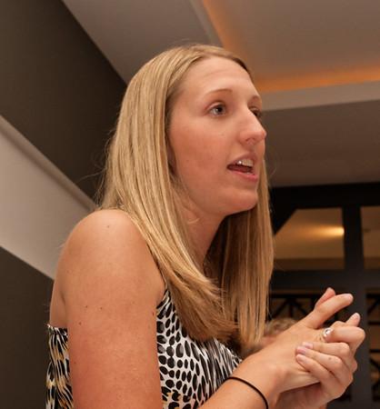 Megan, the KSU rep, introduces Dylan