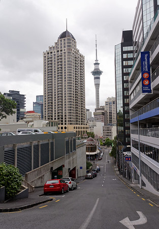Auckland, looking a lot like San Francisco as far as hills go