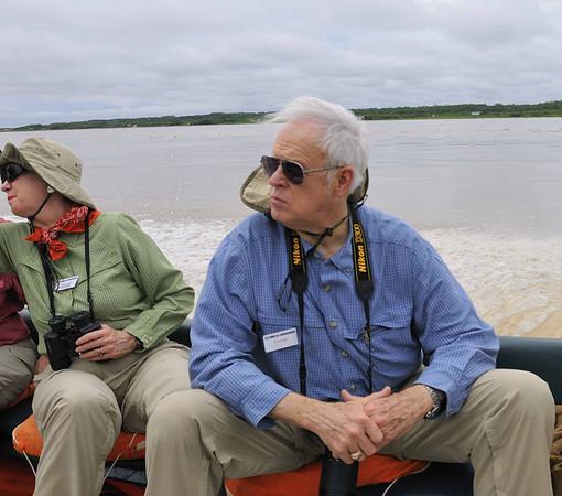 Charlotte, Antonia, George:  Mangua on the Amazon in Peru