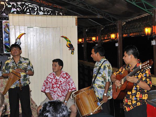 The Band getting tuned up, Qda. Supay, Rio Ucayalli