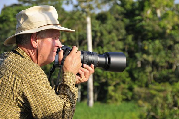 Bill with the big lens, Rio Pacaya, Peru