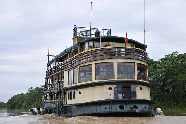 La Amatista, getting ready to board:  Mangua on the Amazon in Peru