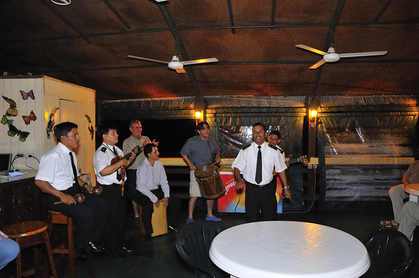 The last song from Jorge & the Horny Chunky Monkeys (e-mail me for an explanation), Gallito, The Amazon River, Peru