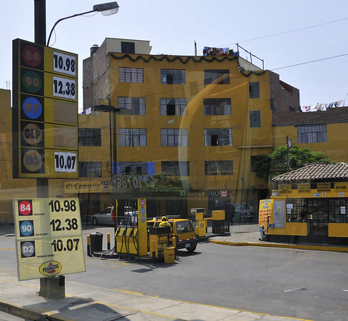 Gas prices - solis/gal. - divide by 3 to get equivalent US price/gal., Lima, Peru