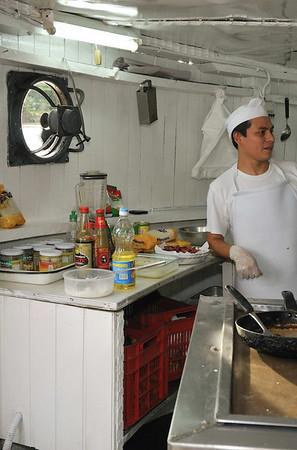Chef Merlin Castro, La Amatista kitchen tour, Gallito, Te Amazon River, Peru