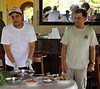 Head Chef David Bolanos and Guide Robinson show us how to prepare a local dish, Yarina, Rio Tapiche, Peru