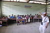 Inside the schoolroom where George is doing his thing, La Reforma, Rio Tapiche, Peru