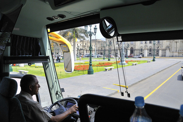 Our FEARLESS bus driver, Lima, Peru