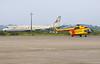 Drug smuggling plane and Helitaxi, Airport, Iquitos, Peru