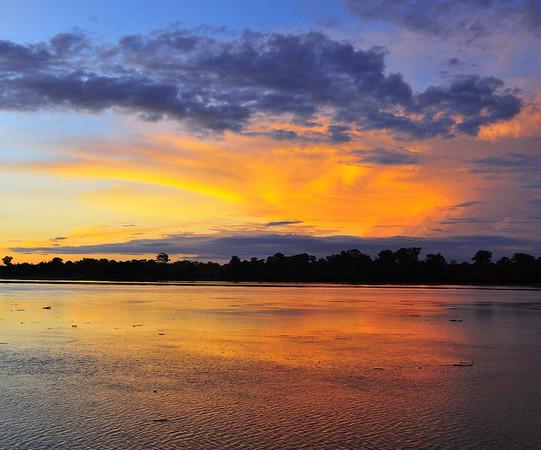Sunset on the Amazon, Canal de Puinahua, Peru