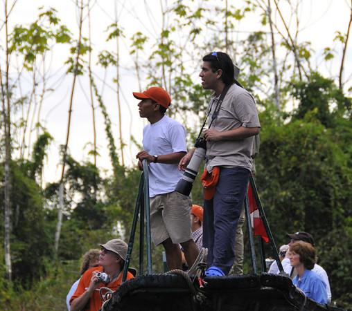 Juan & Jorge looking, Yanallpa, Rio Ucayalli, Peru