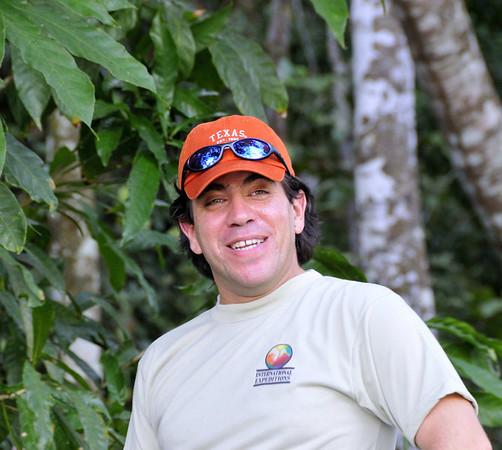 Jorge, proud of his fishing guide prowess, Qda. Carocurahuayte, Rio Ucayalli, Peru