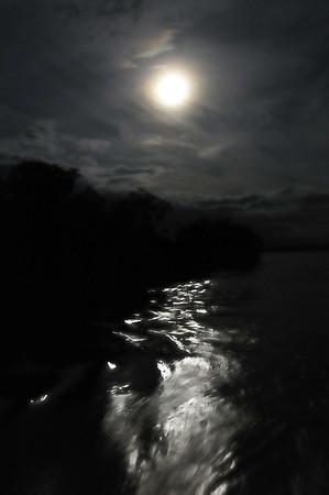 Full moon over the Amazon, Canal de Puinahua, Peru