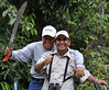 Juan & Jorge clearing path for the boat, Rio Tapiche, The Amazon, Peru