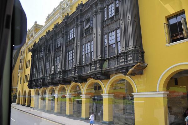 Beautiful building detail, Lima, Peru
