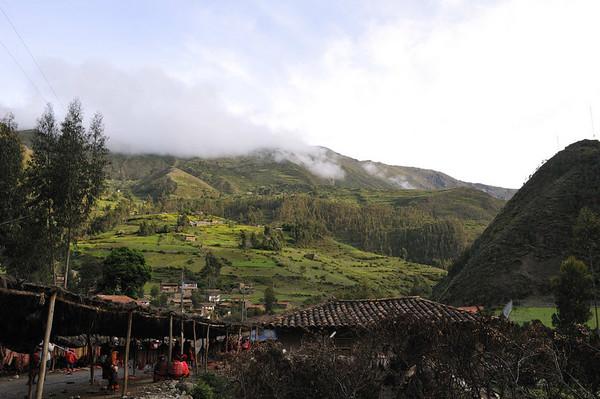 Village scene, Urubamba Valley, Peru