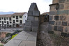 Incan walls, idol corner, convent walls to the right (contrast in quality of stonework), Qorikancha, Cusco, Peru