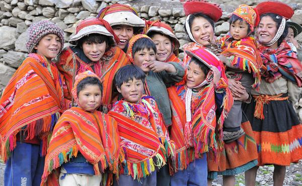 Village kids, Urubamba Valley, Peru