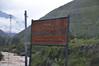 Indicating the start of the trail, train to Machu Picchu, Urubamba Valley, Peru