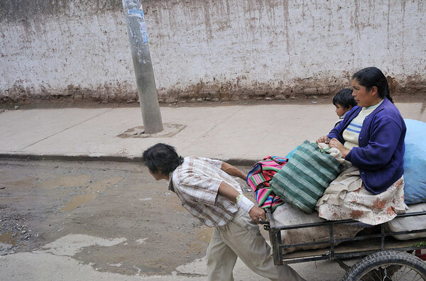 local transportation, from the bus, Urubamba, Peru