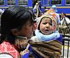 mother and child, Ollantaytambo, Peru